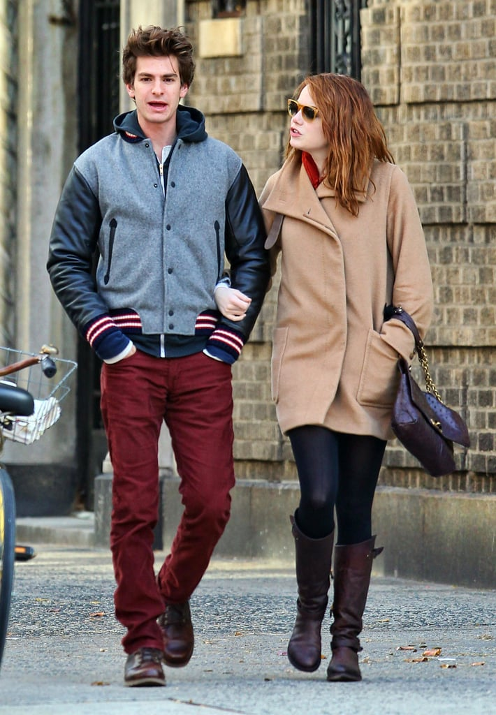 Emma Stone and Andrew Garfield walked and talked.