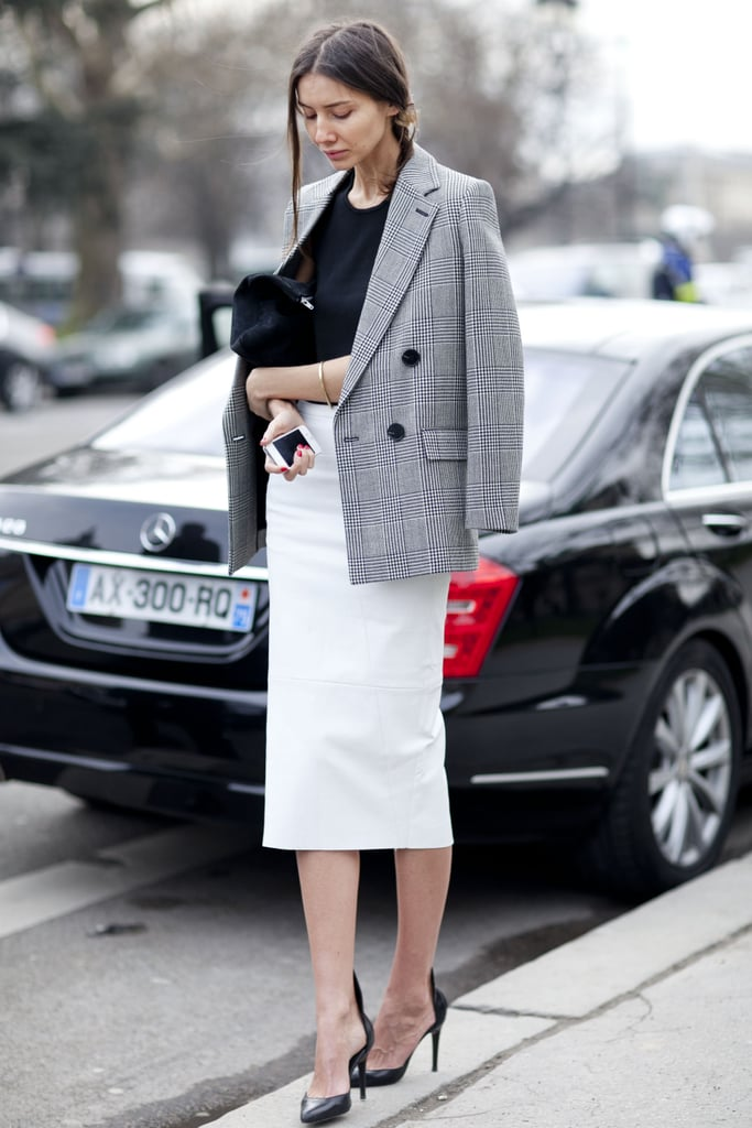 A lesson in modern — and very cool — ladylike dressing.