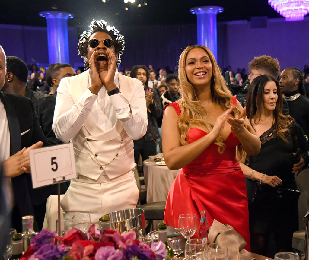 JAY-Z and Beyoncé at Clive Davis's 2020 Pre-Grammy Gala in LA