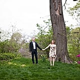 Hold Hands on a Lawn