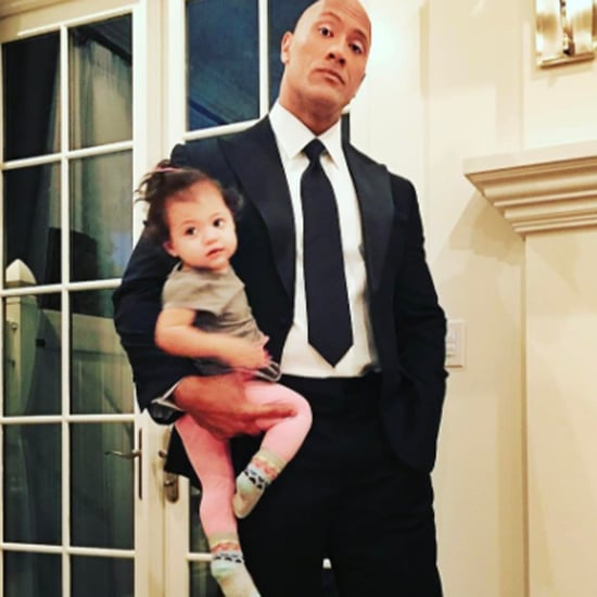 Dwayne Johnson and His Daughter Jasmine Instagram Photo 2017