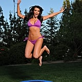 Kim got silly on a trampoline during a July 2009 photo shoot in LA.