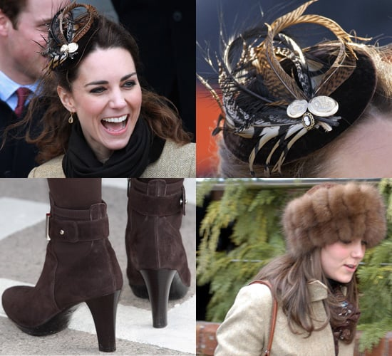Photos of Kate Middleton at Lifeboat Naming in Anglesey in Brown Coat and Ankle Boots