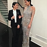 """Kylie shimmered next to Kourtney, who she referred to as """"my date"""" on Instagram."""
