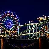 Go to the Steel Pier in Atlantic City, NJ, at night.