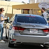 March 6, 2016: Jen and Ben wear matching outfits while picking up food in LA.