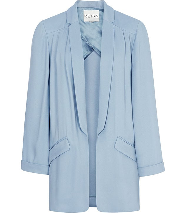 Channel Spring's soft, girlie feel in this pretty blue blazer.  Reiss Issey Relaxed Shirt Jacket ($360)