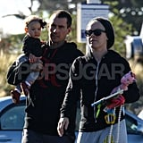 Pink, Willow, and Carey Hart caught some early morning rays in Malibu.