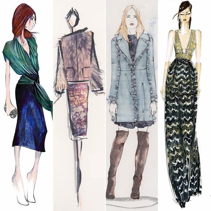 Designer Sketches From New York Fashion Week Fall 2015 Popsugar Fashion