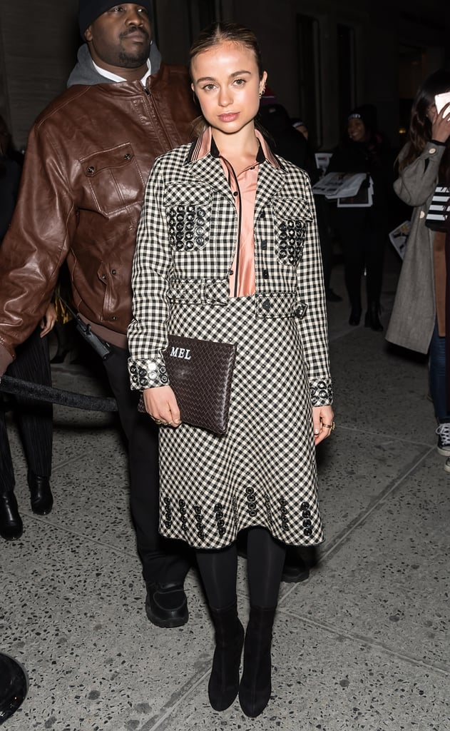 At the Bottega Veneta show during New York Fashion Week in February 2018.