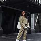 An '80s-Style Tailored, Cropped Pantsuit With Booties