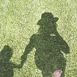 Beyoncé Knowles shared a photo of her shadow holding hands with her daughter, Blue Ivy Carter. Source: Tumblr user Iambeyonce
