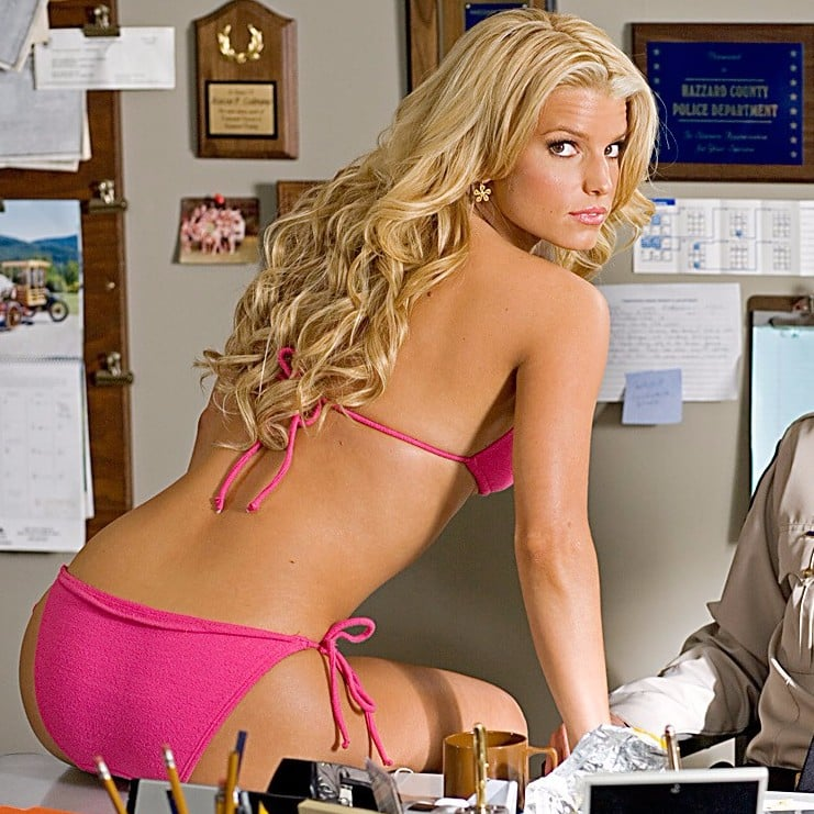Jessica simpson and duke of hazard and bikini