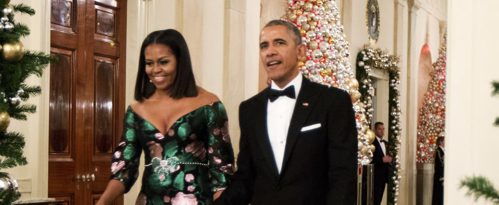 Michelle Obama's Custom Gown Had 1 Majorly Festive Detail