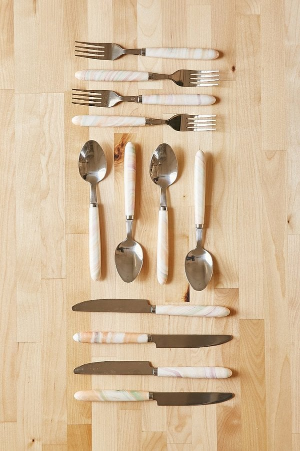 Urban Outfitters Marble Swirl Utensil Set ($20)