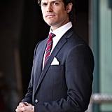 Prince Carl looked handsome while waiting to greet Prince Charles and Camilla, Duchess of Cornwall, in March 2012.