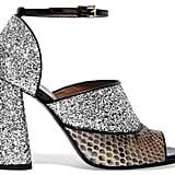 Marni Glittered Leather and Python Sandals (£324, originally £789)