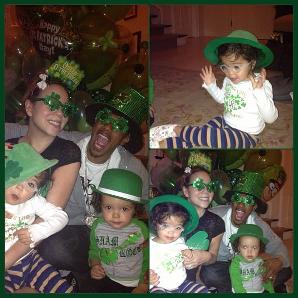 Mariah Carey's kids — Monroe and Moroccan —had a festive St. Patrick's Day. Source: Instagram user mariahcarey