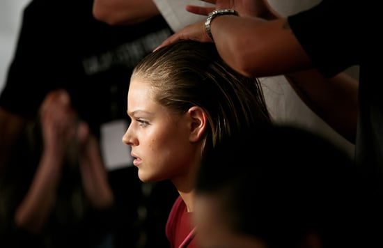 Backstage for Hair & Makeup at Christopher Esber SS 2010-11 at RAFW 2010