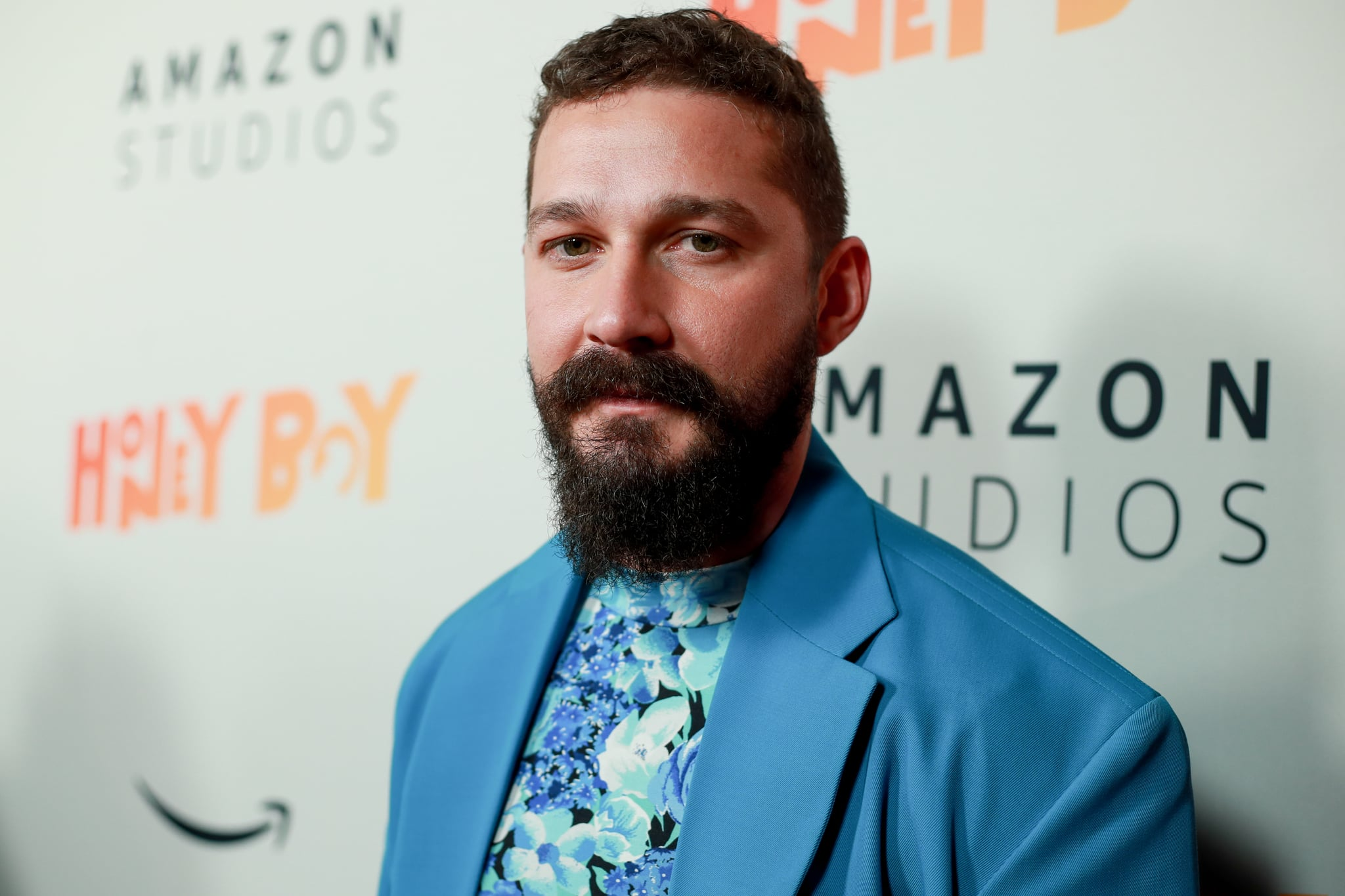HOLLYWOOD, CALIFORNIA - NOVEMBER 05: Shia LaBeouf attends the premiere of Amazon Studios