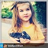 Harper Smith struck a pretty pose for her dad. Source: Instagram user tathiessen