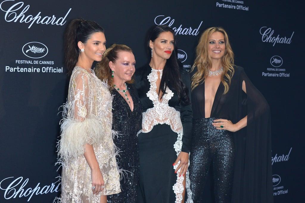Kendall Jenner, Caroline Scheufele, Adriana Lima, and Petra Nemcova