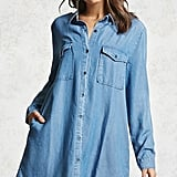 Forever 21 Frayed Hem Denim Mini Dress