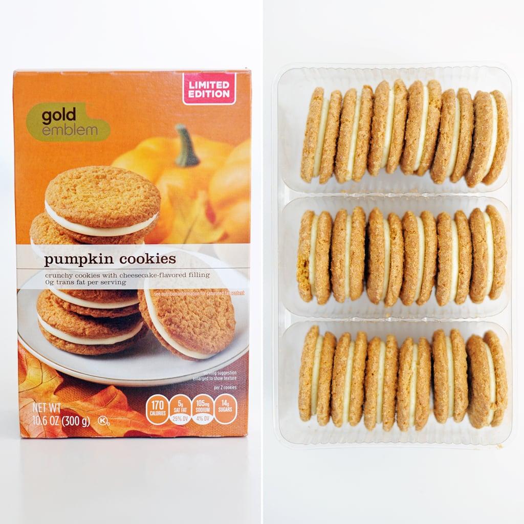 Gold Emblem Pumpkin Cookies