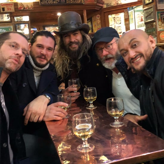 Jason Momoa With Game of Thrones Cast in Belfast 2017