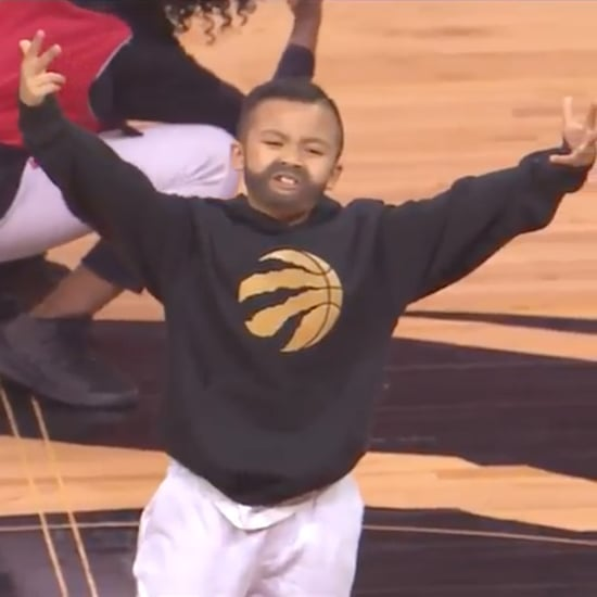 Miniature Drake Performs at Raptors Game Video