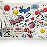 Anya Hindmarch Stickered-Up Georgiana Embossed Leather Clutch ($1,295)