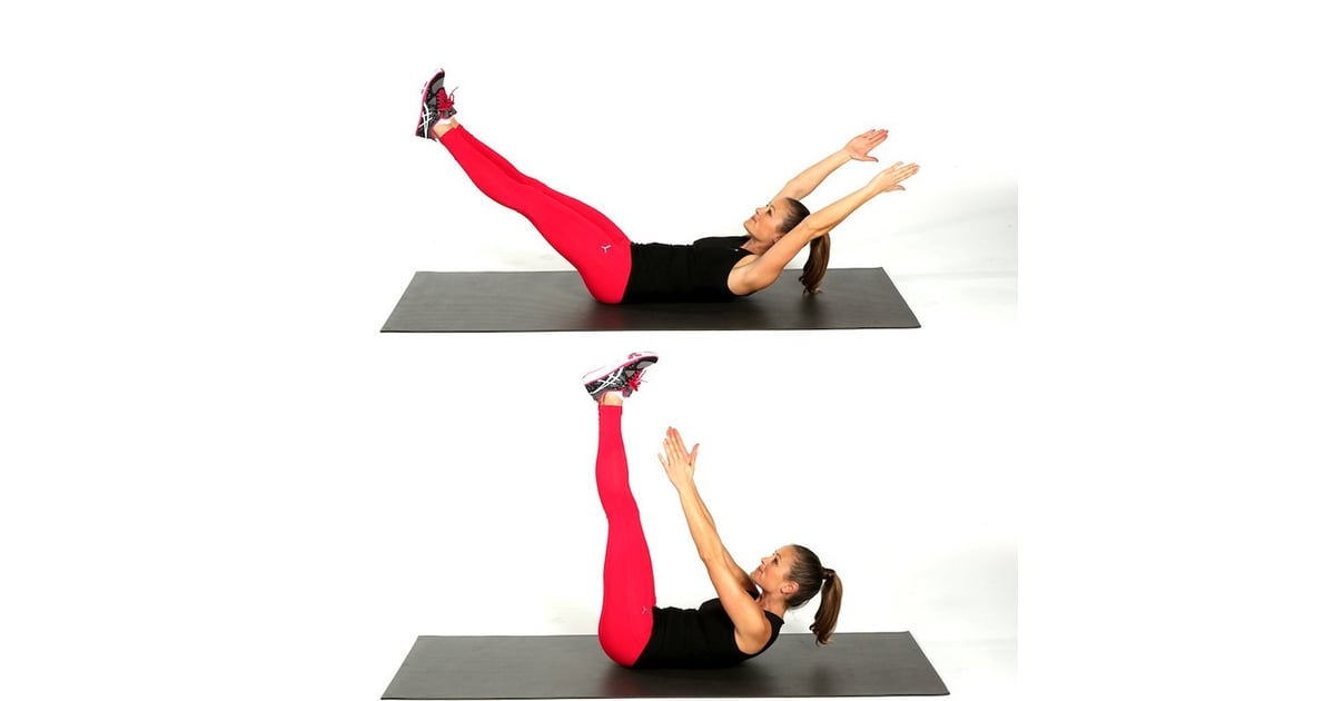 Toe-Touch Crunches | Simple Ab Exercises | POPSUGAR Fitness