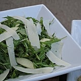 Arugula, parmesan shavings, and olive oil stood together in stunning simplicity.