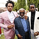JAY-Z, Clarence Avant, and Diddy at the 2020 Roc Nation Brunch in LA