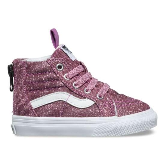 Pink Glitter Vans Sneakers For Kids