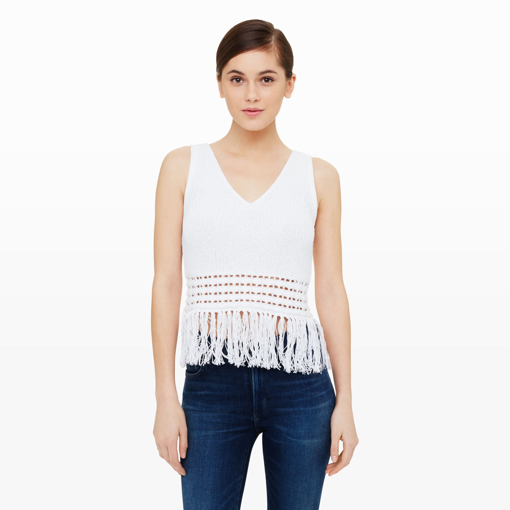 Club Monaco Indya Fringe Sweater Tank ($84, orginally $150)