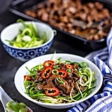 Slow-Cooker Chinese Beef With Zucchini Noodles