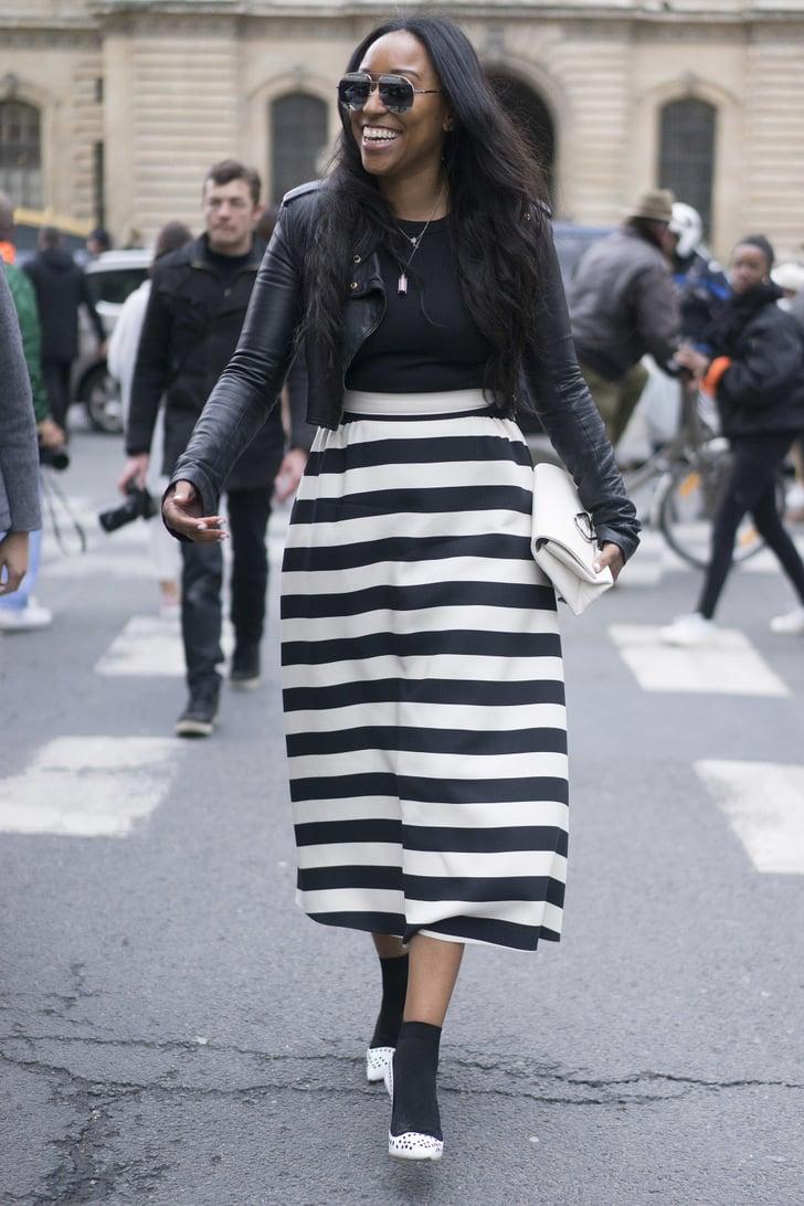 how to wear a midi skirt popsugar fashion photo 13