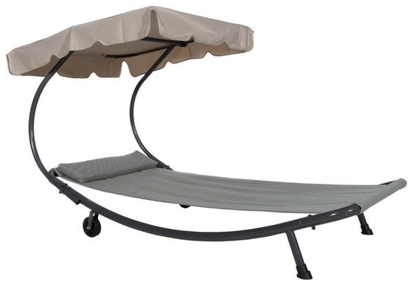 Patio Hammock and Bed Lounger with Sun Shade ($230)