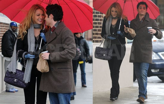 Photos of Blake Lively and Penn Badgley Filming Gossip Girl in Queens