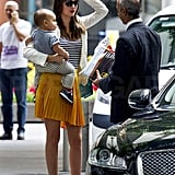 Miranda Kerr and Flynn Bloom headed home.