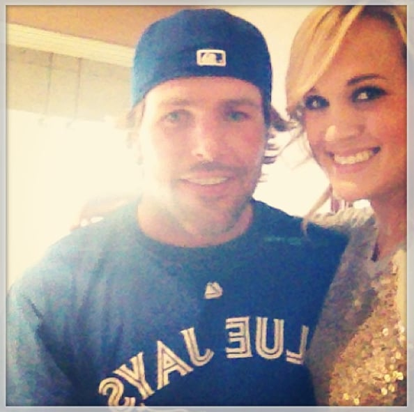 Carrie shared a sweet snap of herself and Mike at a Toronto Blue Jays game in 2013.