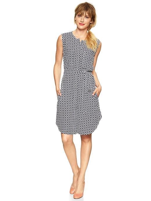 Gap Printed Sleeveless Shirtdress
