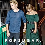 Taylor Swift Green Dress by Free People With Joe Alwyn