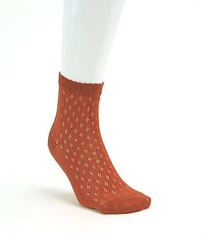 Mesh low crew socks, approx $17. I'll be getting these in steel grey and ivory.