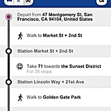 Highlighted Bus Stops