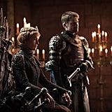 Lena Headey and Nikolaj Coster-Waldau as Cersei and Jaime Lannister