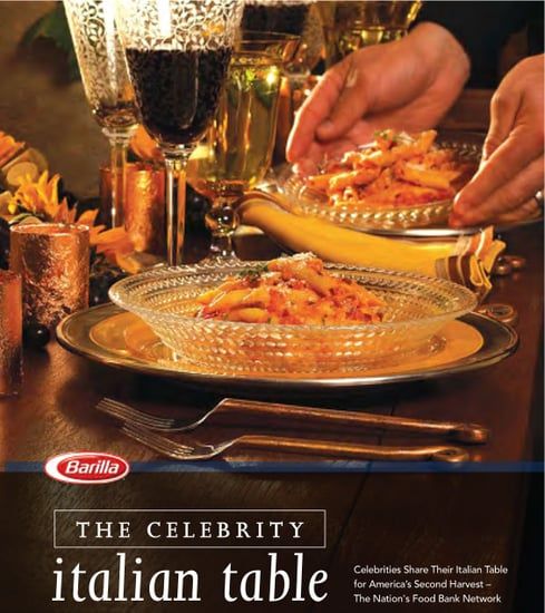 Barilla Launches Their Second Annual Celebrity Cookbook for Hunger