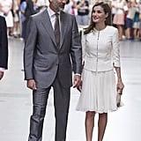 Queen Letizia's All-White Look