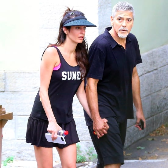 Amal Clooney's Tennis Outfit in Italy